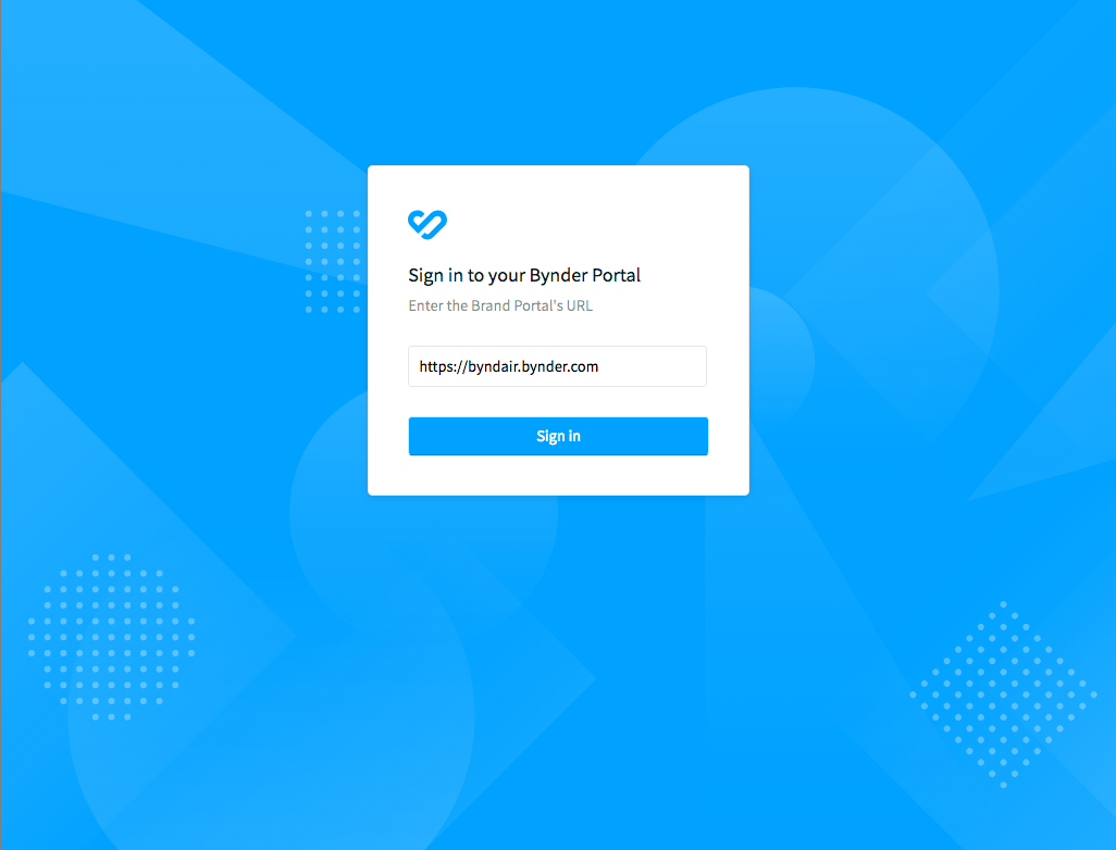 Compact View login page
